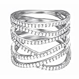 ESPRIT Damen-Ring 925 Sterling Silber Zirkonia brilliance glam weiß
