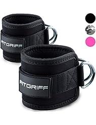 Fußschlaufen (gepolstert) von FITGRIFF (2Stück) - für Fitness Training am Kabelzug - für Frauen und Männer - 2 Jahre Gewährleistung