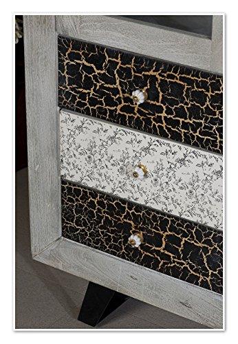 The Wood Times Wohnzimmerschrank Massiv Vintage Look Cell Mangoholz, BxHxT 100x185x42 cm - 2