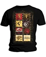 Official T Shirt GAME OF THRONES Stark Lannister HOUSES Black All Sizes
