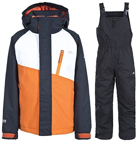 Trespass Crawley - Ensemble veste et salopette de ski - Enfant unisexe (2-3 ans) (Orange)