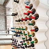 Flaschenregal als SET-Up, Weiß, stapelbar, Kunststoff, ca. L35 x B23 x H36,5cm