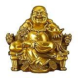 DEAI Chino, Vintage, Cobre, Buda, Budismo, Maitreya, Suministros, Artes, Oficina, Inicio, Feng Shui, Adornos, Estatuilla, Escultura, Arte (Tamaño : B:12 * 11 * 11cm)