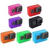 Swallowuk Silikon Kamera Gehäuse Kasten Abdeckung Schutzrahmen und Objektivdeckel Schutzkappe für GoPro Hero 5 (Schwarz)