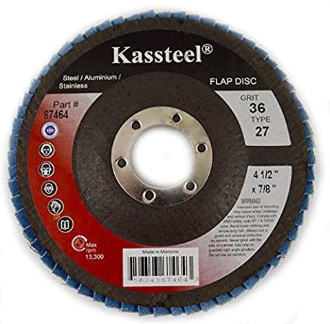 Kassteel Abrasives 67532 Type 27 Flap Discs with 4-1/2