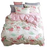YMXJLXH Bettwäsche aus Baumwolle, 4-teilig, Doppelbett, Bettgröße 1,5/1,8 m