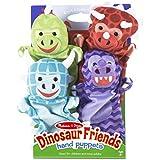 Melissa Doug Dinosaur Friends Hand Puppets (Set Of 4)