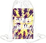 Summer Dreams Palms Beach Drawstring bag