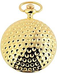Tavo Lino Analog Reloj de bolsillo con cadena de metal y cierre de gancho 480802000106Oro Coloreado Carcasa en tamaño 47mm x 19mm con esfera de color blanco y cristal mineral.