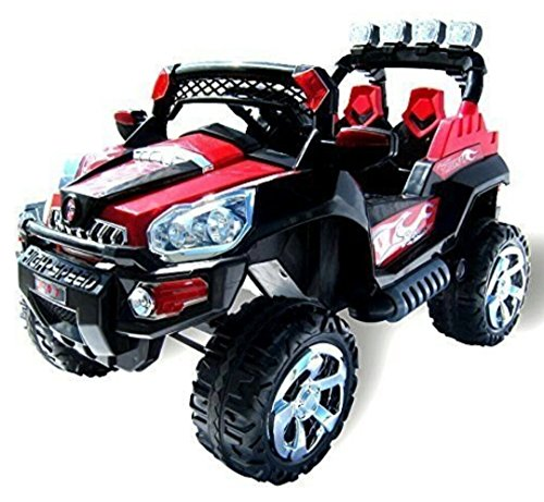 kids ride on jeep 2 seater heavy duty big size red and black colour by toys & motorades Kids ride on jeep 2 seater heavy duty big size red and black colour by TOYS & MOTORADES 519r6XhWX1L