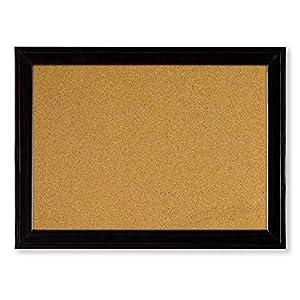 Nobo Quartet Cork Board with Sleek Black Wooden Frame, 585 x 430 mm