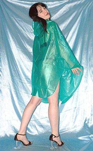 anschmiegsamer VINYL REGENPONCHO* PVC Cape* Umhang* gummig weich & glänzend (dunkelblau) Grün