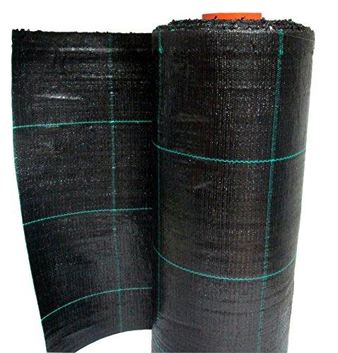Telo pacciamatura nero quadrettato verde in polipropilene antistrappo rotolo 100mt (0,52 mt)