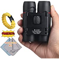 COSTIN 8x22 Portable Binoculars Telescope for Concerts with Fully Multi-Coated Lens, Compact Waterproof Mini Folding Binoculars Lightweighted for Adults Kids, Hiking Bird Watching