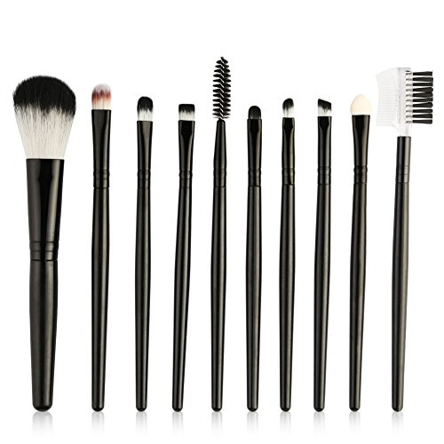 Artifun 10 pcs Pro Pinceaux de maquillage kit