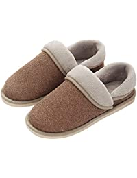 YOOEEN Zapatillas de Estar por Casa para Mujer Invierno Ligero Suave Zapatos de Algodón Comodo Transpirable