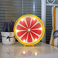 Vimlits Grapefruit Led marquee light decorative motif fruit night lamp battery&USB operated table light best gift choice for kids home holiday party supply