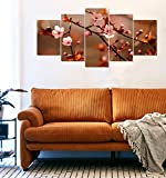 #6: PPD Multiple framed printed flower stems art panels wall Split Painting - 5 Frames Wall Decor Home decor Painting (10 x 20 inch)