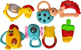 #6: Wishkey Set of 7 Pcs with Various Exciting Rattle Toys for New Borns & Infants Rattle (Multicolor)