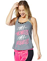 Zumba Fitness My Moves My Rules Débardeur Femme Thunderin Gray FR : S (Taille Fabricant : S)
