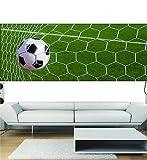 Sticker Panorama Deko Ballon in Fußballtor OEM 3694(13Maße), 100x39cm