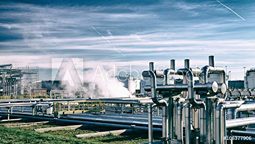 Folie Rohrleitungen (druck-shop24 Wunschmotiv: Rohrleitungen Einer Industrieanlage // Pipelines of Industry Area #106377906 - Bild als Klebe-Folie - 3:2-60 x 40 cm / 40 x 60 cm)