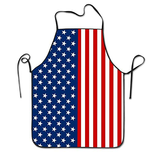 SPHGdiy American Flag Cool Funny Kitchen BBQ Cook Chef Apron Cooking Adults Bibs