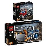 Lego Technik 2er Set 42071 42084 Raddozer + Absetzkipper