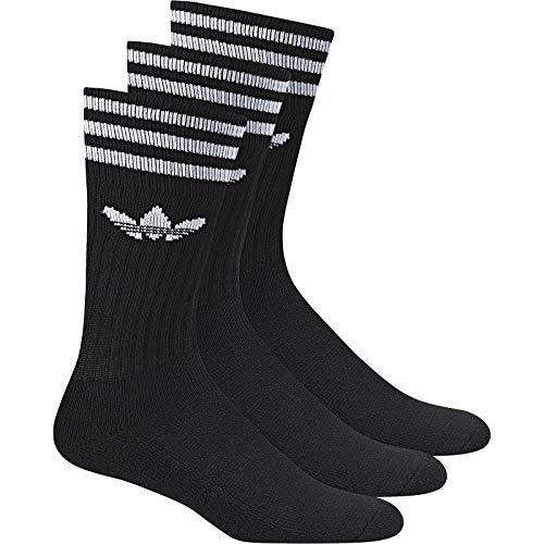 adidas Solid Crew Socks Socken 3er Pack (43-46, schwarz/weiß)
