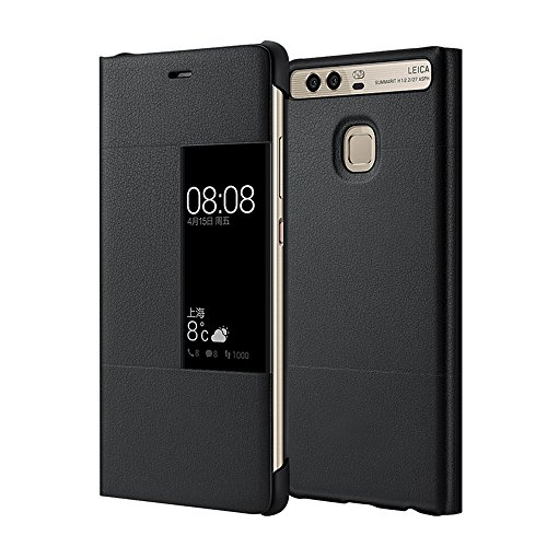 Mooncase case premio custodia in pelle protettiva flip view cover per huawei p9 5.2