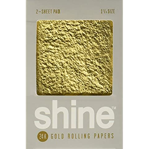 Shine 24K Gold Rolling Papers 2 Sheet