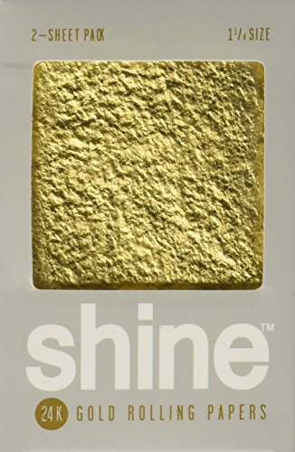 Shine 24K Gold Rolling Papers 2 Sheet Pack by Shine (24 Gold Rolling Papers)