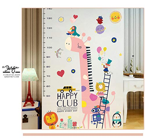AFTUZC Wandaufkleber,DIY Giraffe Höhe Chart Regel Vinyl Wall Sticker Wasserdicht PVC Umweltfreundlich Für Kinderzimmer Kindergarten Spiel Wand Dekoration (Regel-chart)