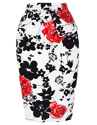 Donne Pois 1950 Vintage Rockabilly pannelli esterni del vestito Taglia M CL8928-7