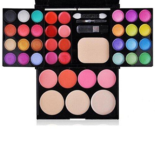 Koly Herramientas de sombra de ojos 39 colores de maquillaje paleta Kit Fundación colorete cosmético del lápiz