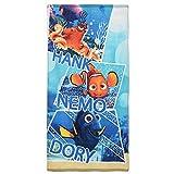 Kinder Handtuch/Saunatuch / Strandtuch/Duschtuch / Badetuch - 70 x 140 cm - aus Baumwolle- Finding Nemo - Dory - Hank tolles Geschenk für Jungen und Mädchen - (DM02)