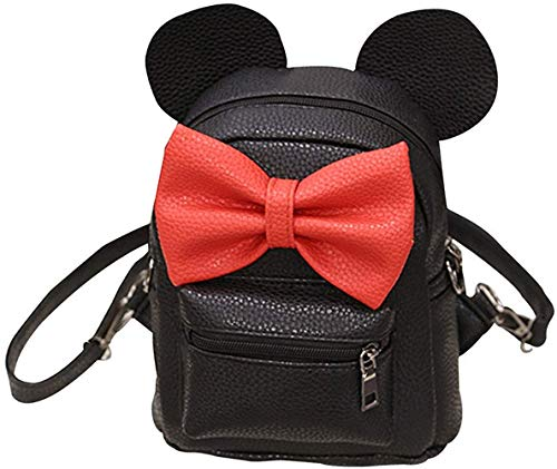 Bizarre Vogue Cute Small College Bag Bow Style Backpack for Girls (Black,BV1217) Image 4