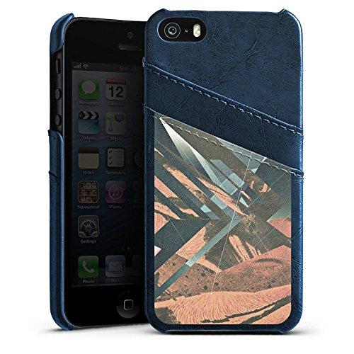 Apple iPhone 4 Housse Étui Silicone Coque Protection Mars Hipster Motif Étui en cuir bleu marine