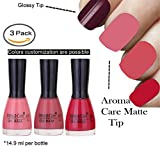 #3: Aroma Care Velvet Matte Nail Polish Peach, Nude and Mauve Colors by Aroma Care, 14.9 ml per bottle