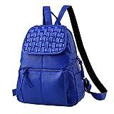 BAILIANG Lässige Handtasche Fashion School Leder Rucksack Schultertasche Mini Rucksack Für Frauen Und Mädchen,Blue-OneSize