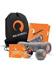 Relaxroll (Das Original) Faszienrolle Massagerolle, AchillX & Ball 10 cm, inkl. Übungs-DVD und Übungs-Flyer