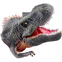 deAO Cabeza de Dinosaurio Marioneta de la Era Jurásica Hecha de Goma Suave Juguete de Simulación Realista (Giganotosaurus Verde)
