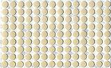 KwikCaps PVC Magnolie Selbstklebende 3M Schrauben-Abdeckungen Abdeckkappen Nägel Cam flach [126 Stk. x 13 mm Durchmesser]