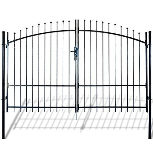 Festnight cancello modulare doppio in metallo verniciato con frecce 300 x 248 cm