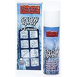 Bombe de neige + 8 pochoirs de Noël - Décoration Noel - 150 ml - 305