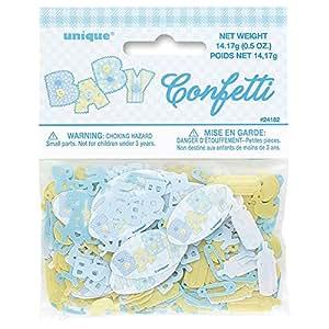 Baby Shower Confetti; Blue Stitches Design