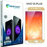 AVERCOM™ Full Cover Edge To Edge HD Clear Anti-Shatter Premium Tempered Glass Screen Protector Guard For Vivo V5 Plus (Gold)