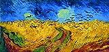 Legendarte P-278 Quadro di  Vincent Van Gogh - Campo di  Grano con Volo di  Corvi, Stampa digitale su tela, Multicolore, cm. 50 x 100