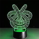 baby Q 3D LED Nachtlicht Lampe, Kreative Bunte Touch Lights, Acryl Home Schlafzimmer Lampe, USB-Power-Licht