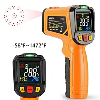 Infrared Thermometer AIDBUCKS PM6530B Digital Laser Non Contact IR Temperature Gun Color Display -58°F to 1022°F with Temperature Alarm Function for Cooking Food Kitchen Oven Industry etc.